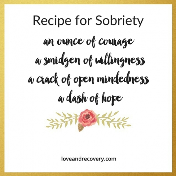 Recipe for sobriety